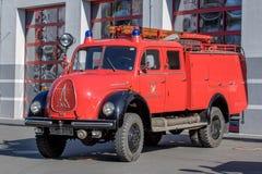 Alte deutsche Feuerwehr Motor- Magirus Deutz Lizenzfreie Stockfotografie