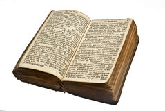 Alte deutsche geöffnete Bibel Stockfoto