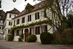 Alte deutsche Häuser stockfoto