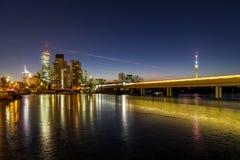 Alte Donau a Vienna nell'inverno Fotografie Stock