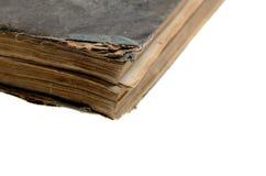 Alte Draufsicht des geschlossenen Buches Stockfotos