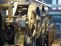 Alte Druckenpresse Ð-¡ verlieren herauf Ansicht lizenzfreies stockfoto
