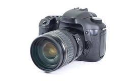 Alte DSLR Kamera des Fotos auf lokalisiertem Weiß Lizenzfreie Stockbilder
