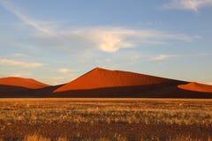 Alte dune di sabbia in Namib Naukluft NP Fotografie Stock