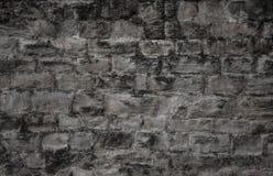 Alte dunkle Zementwand in der grauen Farbe Lizenzfreie Stockfotografie
