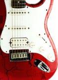 Alte E-Gitarre auf Weiß Lizenzfreies Stockbild