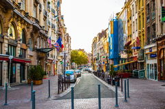 Alte Einkaufsstraße von Lille Lizenzfreie Stockfotos