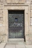 Alte Eisen-Tür Stockfoto