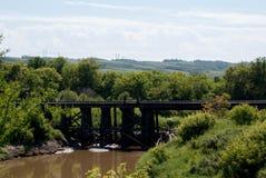 Alte Eisenbahn-Brücke Lizenzfreie Stockfotos