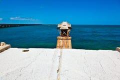 Alte Eisenbahn-Brücke auf Bahia Honda Key in den Schlüsseln Lizenzfreies Stockbild