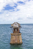 Alte Eisenbahn-Brücke auf Bahia Honda Keys Stockfotos