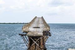 Alte Eisenbahn-Brücke auf Bahia Honda Keys Stockfoto
