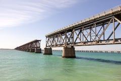 Alte Eisenbahn-Brücke an den Florida-Schlüsseln Stockbilder