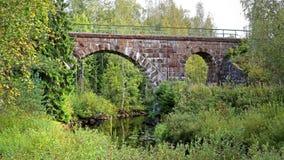 Alte Eisenbahn-Brücke in Mittel-Finnland Stockfoto