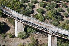 Alte Eisenbahnbrücke Stockbilder