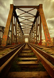 Alte Eisenbahnbrücke stockfoto