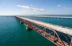 Alte Eisenbahnbrücke Bahia Hondas Lizenzfreies Stockfoto