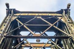 Alte Eisenbahnbrücke in Tczew, Polen Lizenzfreies Stockfoto