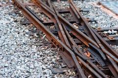 Alte Eisenbahnlinie stockbild