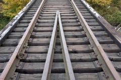 Alte Eisenbahnspur   Stockbild