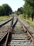 Alte Eisenbahnverzweigung lizenzfreies stockbild
