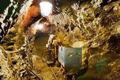 Alte Eisenerzmine, Chrustenice-Welle, Lodenice, zentrale böhmische Region, Tschechische Republik - einzigartige 84 Untertageböden Lizenzfreies Stockbild