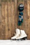 Alte Eisrochen und -schal im Schnee Lizenzfreie Stockbilder