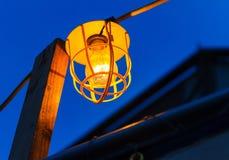 Alte elektrische Birne auf Kabel, Las Vegas Lizenzfreies Stockbild