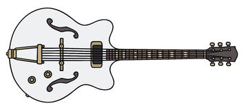 Alte elektrische Gitarre Lizenzfreie Stockfotografie