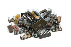 Alte elektronische Bauelemente Stockbild