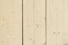 Alte elfenbeinfarbene hölzerne Bretter an der schäbigen Art Lizenzfreie Stockfotografie