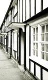 Alte englische Häuser Stockfotos