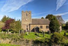 Alte englische Kirche, Stokesay, Shropshire, England Lizenzfreies Stockbild
