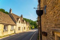Alte englische Stadt und schöne historische Gebäude, alte Straße, h Lizenzfreie Stockfotos
