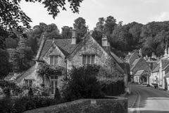 Alte englische Stadt und schöne historische Gebäude, alte Straße, h Stockbilder