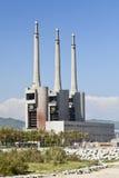 Alte enorme Fabrik Lizenzfreie Stockfotos