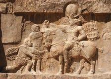 Alte Entlastung von Triumph Naqsh-e Rustam von Shapur I Lizenzfreies Stockfoto