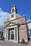 Alte, erneuerte Ziegelsteinkirche mit Säulen, Waddinxveen, die Niederlande Lizenzfreie Stockfotos