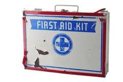 Alte Erste-Hilfe-Ausrüstung Lizenzfreies Stockbild