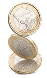 Alte -Euro-Münzen Lizenzfreie Stockfotos