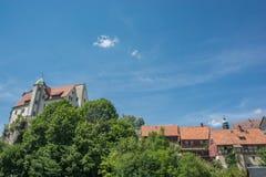 Alte europäische Stadtskyline Lizenzfreie Stockbilder