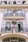 Alte façades in der Mitte von Libon Portugal Stockfotos