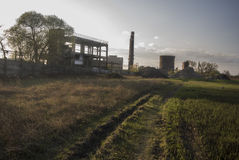 Alte Fabrik Stockbild