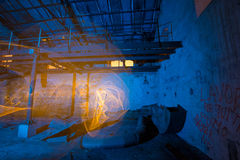 Alte Fabrik der hellen Malerei Stockfoto