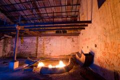 Alte Fabrik der hellen Malerei Stockbild