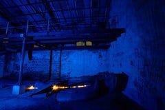 Alte Fabrik der hellen Malerei Lizenzfreies Stockfoto