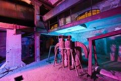 Alte Fabrik der hellen Malerei Stockfotos