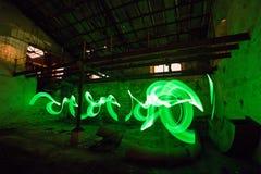 Alte Fabrik der hellen Malerei Stockbilder