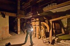 Alte Fabrik der hellen Malerei Lizenzfreie Stockfotografie