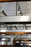Alte Fabrik innerhalb des Strukturdetails Stockfoto
